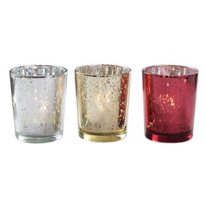 Candles 3Pcs Electroplated Candle Cups Glass Containers Creative