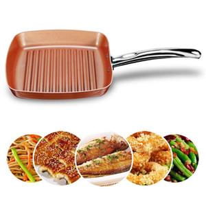 Rayas / Piso Inferior Aluminio Aleación de aluminio No-Stick Frying Pan Pozo Fried Steak Olla de Inducción Cocina Cocina COCCIÓN PARA COCINA DE CASA
