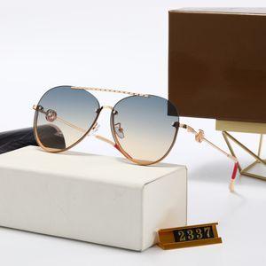 2021ss top quality brand Round pink Sunglasses for Women Metal Sun glasses man UV400 gradient designer Eyewear Female