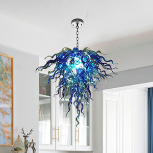 2021 LED Hanging Chandelier Modern Hand Glass Chandeliers Multicolored W70*H50CM Chandeliers Pendant for Bedroom Decoration Lighting Fixture