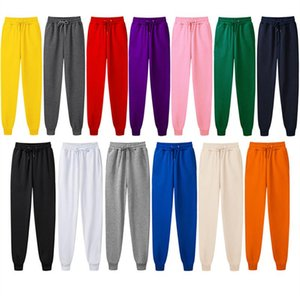 Running Pants Solid Color Casual For Men And Women, Men's Fashion Drawstring Full-length Pants, Fleece Harajuku Style Pencil F