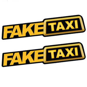 Car Accessories Hot selling in Europe and America FAKE TAXI Fake Taxi Drift Logo Funny Car Sticker