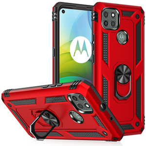 Soporte de coche Caja de anillo magnético para Moto Motorola G Stylus 2021 G Power G9 Play E7 Kickstand Cubierta híbrida