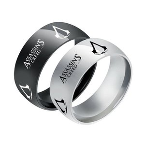 Stainless Steel Rings Assassin's Creed Logo For Men Band Gift Size 6-13