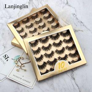 10 Pairs box Natural 3D False Eyelashes Set Fake Lashes Makeup Kit Mink Lashes Extension Mink Eyelashes Wholesale