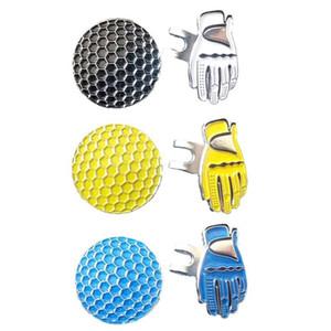 Golf Ball Alific Marker с магнитной перчатой шапкой Cap Cap Clip Clip съемным металлическим мячом для гольфа