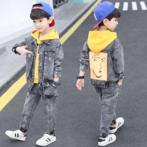 Suit des garçons Vêtements de mode coréenne Ensemble de trois pièces pour enfants