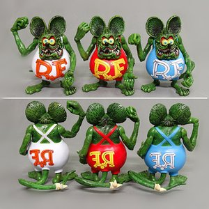12cm Tales of the Rat Fink Crazy Mouse Fink Model Toys Home Ornaments Anime Collectible Toy