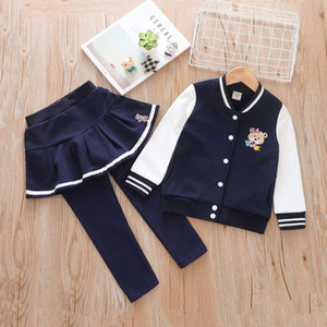 Cub 2021 Roupas Novo Bordado Bordado Korean Girl's Sports Sports Uniform