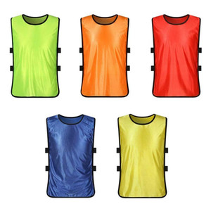 Team Training Scrimmage Vests Soccer Basketball Youth Adult Pinnies Jerseys New Sports Vest Breathable Team Training Bibs