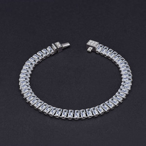HBP fashion luxury jewelry 2021 new high carbon full bracelet simulation 2.4 * 5mm row diamond chain