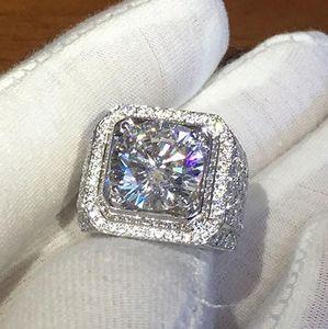 mens ring hip hop jewelry Zircon iced out rings luxury Cut Topaz CZ Diamond Full Gemstones Men Wedding Band Ring fashion ps1637