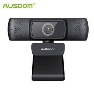 AUSDOM AF640 풀 HD 1080P 카메라 모니터 자동 초점 90도보기 각도 Windows Mac 용 개인 정보 보호 표지