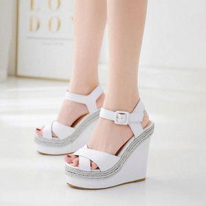 Women Sandals Plus Size Wedges Shoes For Women High Heels Sandals Shoes 2020 Flip Flop Chaussures Femme Platform Sandals#g4 R2UT#