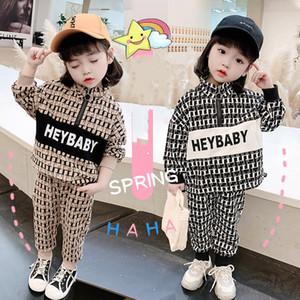 2021 Kids Designer Clothes Tracksuits Kids Brand Tracksuits Luxury Designer Baby Clothes Set Kids Boy Girl Long Sleeve Pants 2Pcs