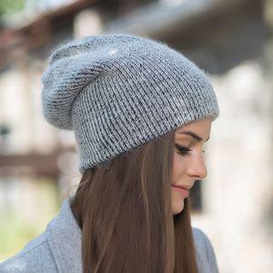 New Real Rabbit Fur Wool Beanie Hat for Women Solid Winter Cashmere Skullies Warm Gravity Falls Gorros Female Cap