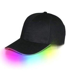 공 모자 LED 가벼운 파티 힙합을 위해 완벽한 야구 빛나는 조정 가능한 모자