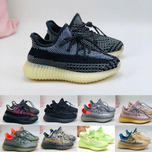 Siyah Gri Karbon V2 Örgü Nefes Çocuk Koşu Ayakkabıları Erkek Kız Gençlik Çocuk Spor Sneaker Boyutu 26-35