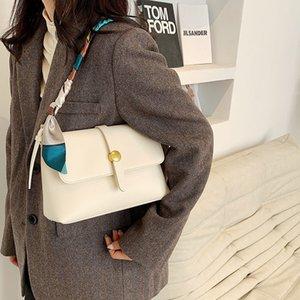 Silk scarf women's 2021 new fashion small square bag