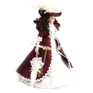 1:12 Dollhouse Miniature Porcelain Dolls Dollhouse Victorian Beauty Lady Hot sale L0308