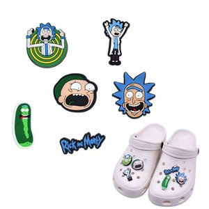 Wholesale Cute Cartoon Croc Jibbitz Charms Fit for Clog Shoes and Wristband Bracelet Decoration Party Gifts