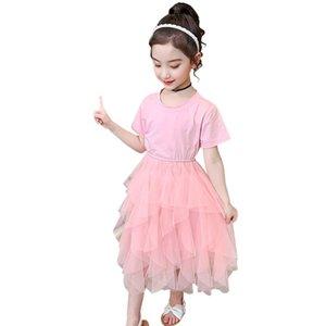 Girl's Dresses Teenage Girl Solid Color Party Dress 2021 Est Children Summer Costume 6 8 10 12 14