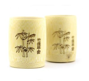 100pcs lot Traditional Chinese Handmade Natural Bamboo Cup For Tea Water Beer Coffee Juice SN5175