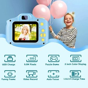 Camcorders Dual Lens Kids Children Mini Digital Camera + 32GB TF Card USB Reader Pography Props Toys Birthday Gifts For Chil