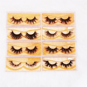 SHipping cost Mink Eyelashes 100% Cruelty free 3d Mink Lashes Handmade Reusable Natural Eyelashes With pacakging box Wispies False Eyelashes