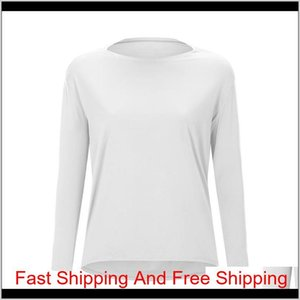 Luyogasports Lu Tops Running Loose Long-sleeved Women's Slim Fit Shirt Breathable Women's Training Fitness Lu Y qylCzW my_home2010
