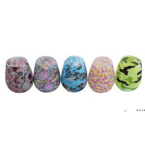 Silicone Wine Glasses Camouflage Lip Bohemia National Skull Bubble Water Bottle Outdoor Cups Beer Whiskey Glass Drinkware FWF10050
