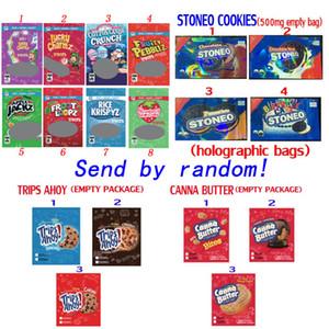 Edibles Candy Packaging Stoneo Cookies Gummies الحبوب الزجاجية يعامل القنا زبدة الرحلات أحادي التعبئة والتغليف الحلوى