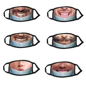 Tasarım Unisex Yüz Maskeleri Baskı Toz Geçirmez Yüz Maskesi Moda Baskı Erkekler Kadınlar Ağız Maskeleri Açık Anti-sis Parti Yüz Maskesi