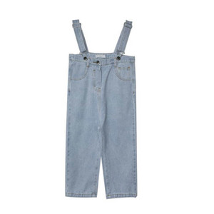 2021 Spring Summer Girls Jeans Kids Braces Suspenders Jumpsuit Thouser Pants Overalls Children Clothing 2-7Y SM020
