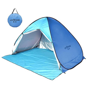 LEVORYEOU Automatic Tent UV Protection Outdoor Camping Tent Instant Up Beach Sun Protection Curtain