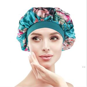 NightCap Turban Floral Print Chapeau Head Head Head Turban Fleur doux confortable en soie imitation de chimiothérapie CAP HWB5121