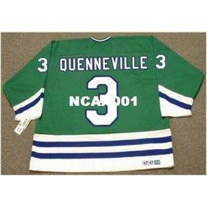 001S # 3 Joel Quenneville Hartford Whalers 1988 CCM Vintage Home Hockey Jersey o personalizado Cualquier nombre o número Jersey Retro