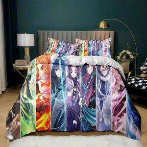 Bedding Sets Coustom Japanese Figure 3D Print Bedclothes Cartoon Anime Set Duvet Covers Pillowcase King Queen Size Home Decor Kids