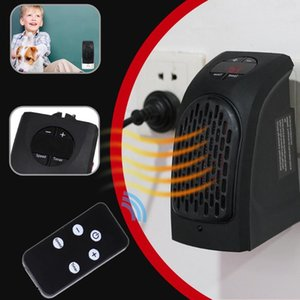 400W Mini Fan Heater Electric Wall Warmer with Remote Control Sleeping Indoor Heater 2 Modes Adjustable With Remote Control
