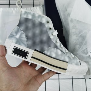Classic Canvas Shoes Man B 23 Oblique Shoe Fashion Casual Sneakers Gray White Black Lace Up