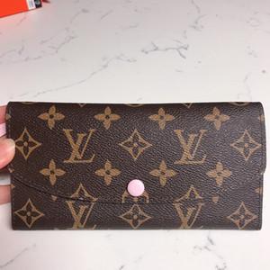 الأزياء بالجملة الكلاسيكية سيدة جلد محفظة أزياء طويلة محفظة المال حقيبة سستة حقيبة كوين مخلب حقيبة محفظة