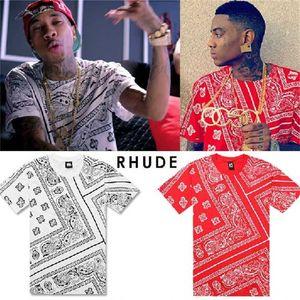 Bandana RHUDE Tyga shirt Justin LA Bieber t KTZ hip hop t-shirt streetwear tshirts KTZ men Harajuku XXXL 4XL 5XL mens tees tops