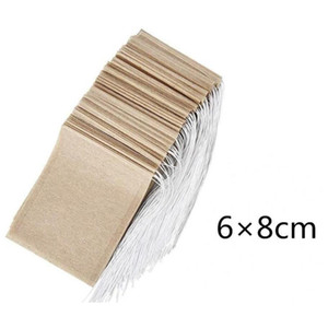 100pcs lot Tea Filter Bags Natural Unbleached Paper Tea Bag Disposable Tea Infuser Empty Bag With Drawstring For H jllkGf xmh_home