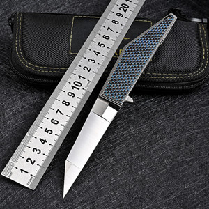 Tactical hunting folding blade knives M390 steel carbon fiber Knife outdoor camping survival EDC pocket self defense tools military knifes