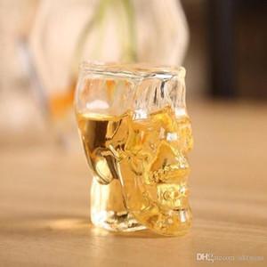 Fashion Cups Crystal Skull Head Shape Vodka Wine Glass Pirate Vaccum Beer Glass Mug Club Skeleton Cups WY301Q