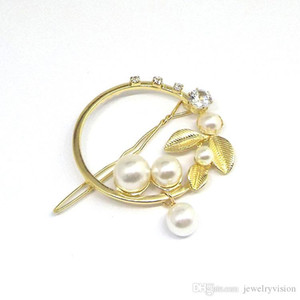 Europe Fashion Jewelry Women's Vintage Circle Leaves Pearls Barrette Hairpin Hair Clip Bobby Pin Lady Barrettes S600 44