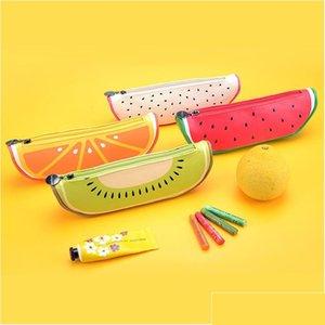 Venta al por mayor-Nuevo Bolso de la caja de lápices de la escuela linda para las niñas Fruit Lápiz-Case Suplementos Escolares Pens Lápices Writi Jllcen SINABAG