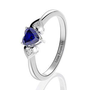 HBP Shipai fashion popular love zircon ring rhodium plated simple jewelry gift