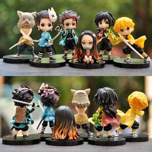 Demon Slayer Anime Action Figure Kimetsu No Yaiba Kamado Tanjirou Agatsuma Zenitsu Nezuko Guerriero PVC Modello giocattoli