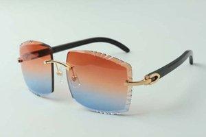 2021 Neueste Stil High-End Designer Sonnenbrillen 3524022, Hohe Qualität Schneidlinse Natürliche Schwarz Buffalo Hörner Gläser, Größe: 58-18-140mm